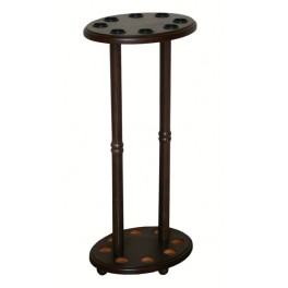 Oval cane holder, wenge, for 8 units