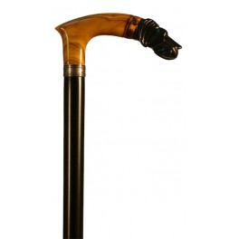 Olive handle with ebony FOX, black beech wood shaft
