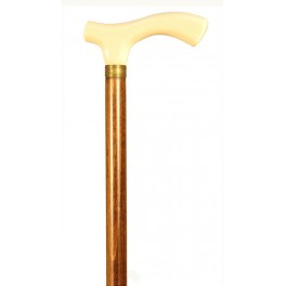 Ivory colour handle, brown beech wood