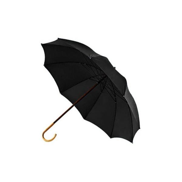 Paraguas de pastor con pu o de casta o y tela negra de - Tela de paraguas ...