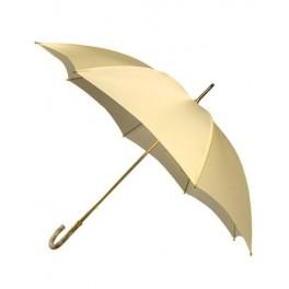 Paraguas de novia con puño de metacrilato perla y tela de color crema
