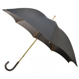 Paraguas de caballero con puño de metacrilato gris