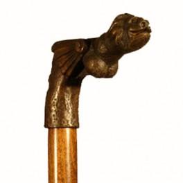 LION GARGOYLE, solid bronze