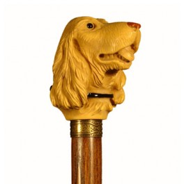 SETTER DOG, with ash wood
