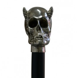 Devil nickel skull, black beechwood