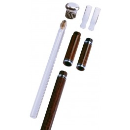 Toulouse lautrec cane, collapsible with liquor flask and 2 small glasses, stamina wood