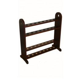 Cane holder 2 levels, wenge, for 16 units