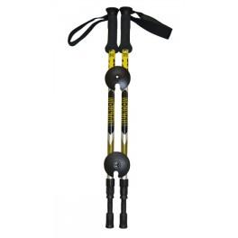 Bastons de trekking amb PUNY FOAM, groc