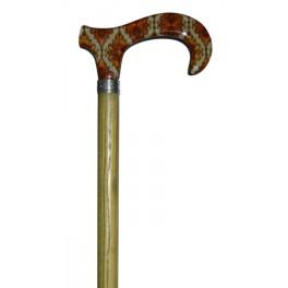 Tiger cloth handle, brown beech wood