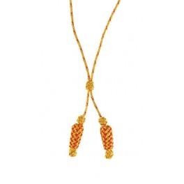 Cordón de seda para Almirante, oro y rojo