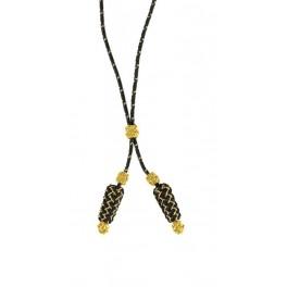 Silk braid of Deputy Major, black and gold