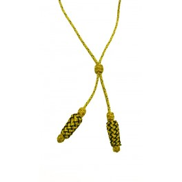 Cordó de seda per Batlle, or i negre