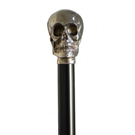 Small nickel skull, black beechwood